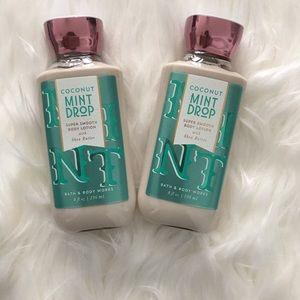 NWT Bath & Body Works Coconut Mint Drop Lotion